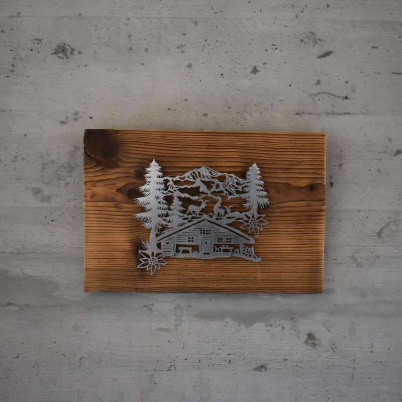 Holzbild Alphütte