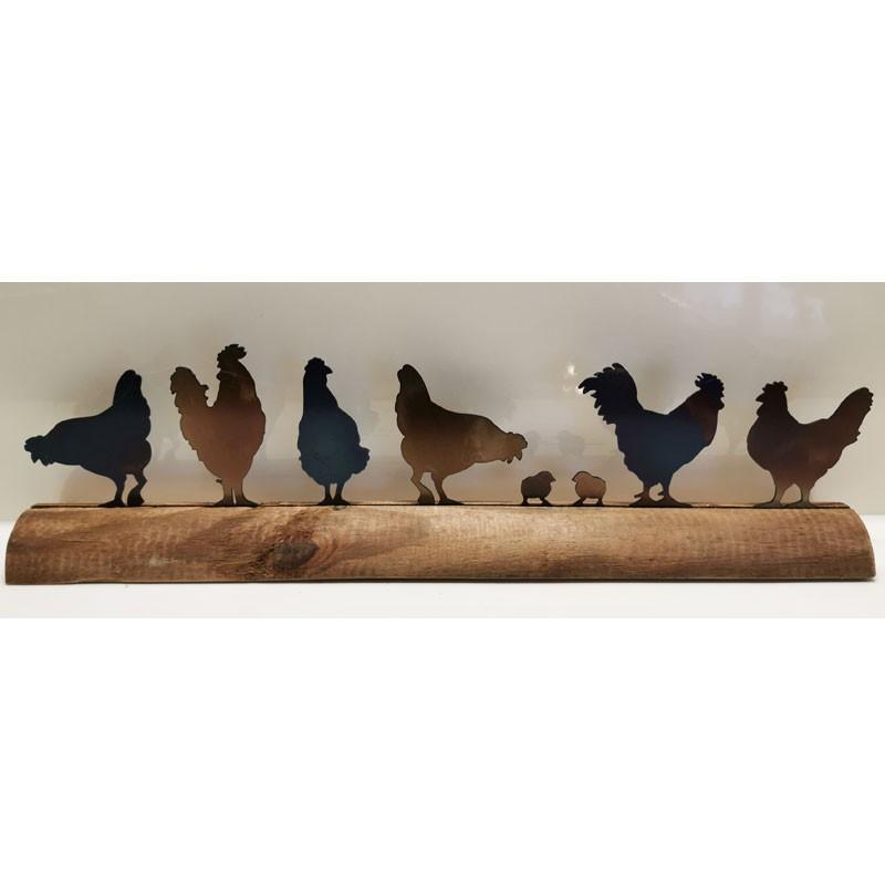 Hühner auf Pfosten mini